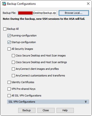 Zero Downtime ASA Upgrade (ASDM) – Write Mem