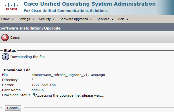Upgrading Cisco Emergency Responder 8 6 to 10 5 (Physical to Virtual